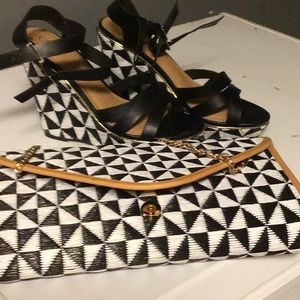 4 1/2 inch heels and handbag set